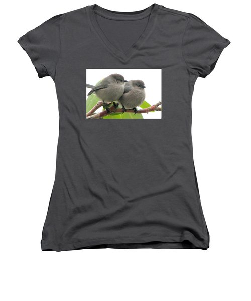 Bushtits Women's V-Neck T-Shirt (Junior Cut)
