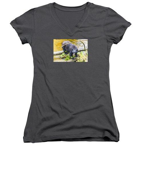 Busted Women's V-Neck T-Shirt (Junior Cut) by Harold Piskiel