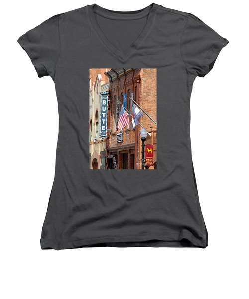 Butte Opera House In Colorado Women's V-Neck T-Shirt (Junior Cut) by Catherine Sherman