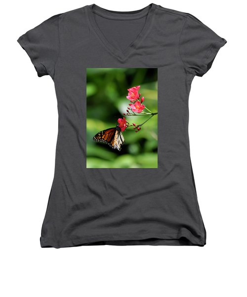 Butterfly And Blossom Women's V-Neck