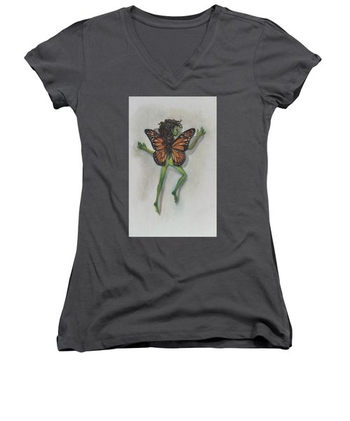 Butterfly Fairy Women's V-Neck T-Shirt