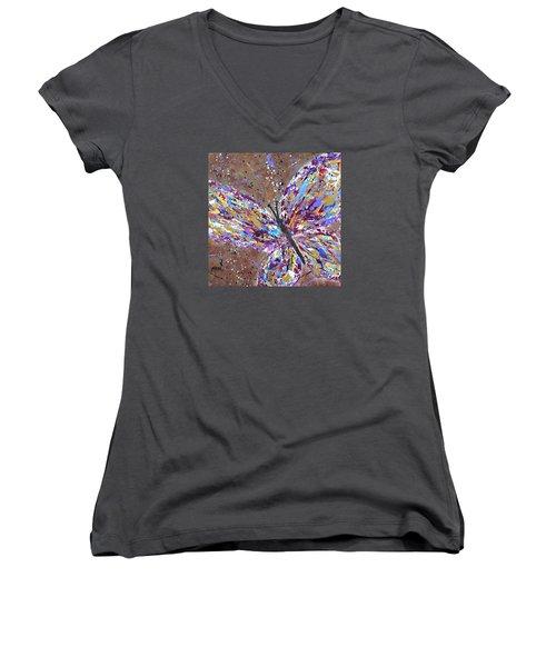 Butterfly Magic Women's V-Neck T-Shirt