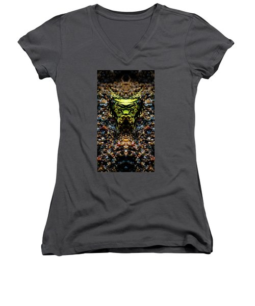 Butterfly Tiger Women's V-Neck (Athletic Fit)