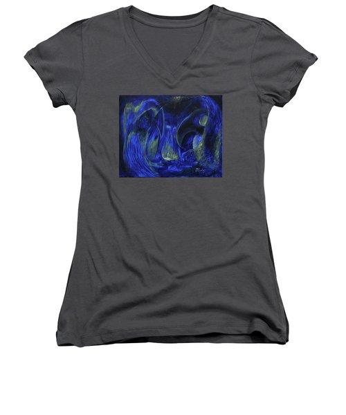 Buzzards Banquet Women's V-Neck T-Shirt