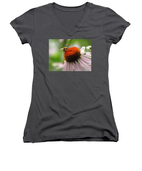 Buzzing The Coneflower Women's V-Neck (Athletic Fit)