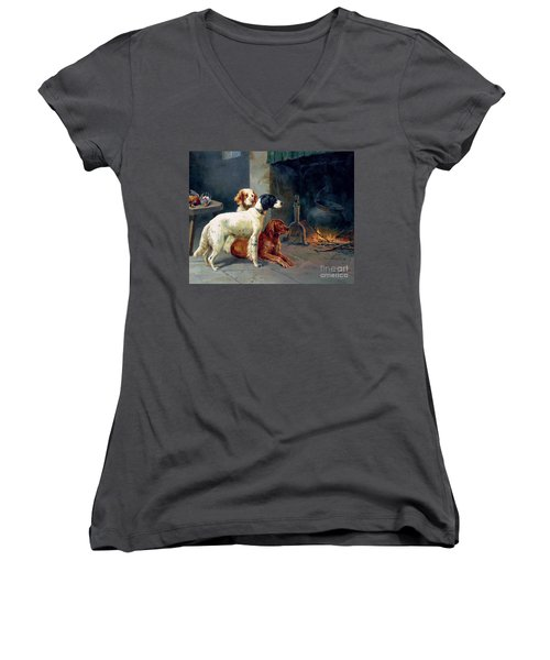 By The Fire Women's V-Neck (Athletic Fit)