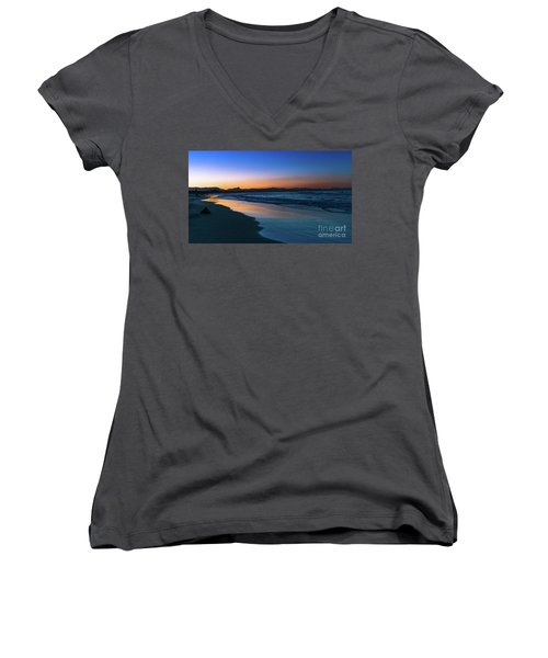 Byron Bay After The Sun Sets Women's V-Neck (Athletic Fit)