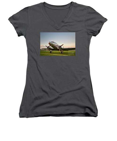 C-47 At Dusk Women's V-Neck