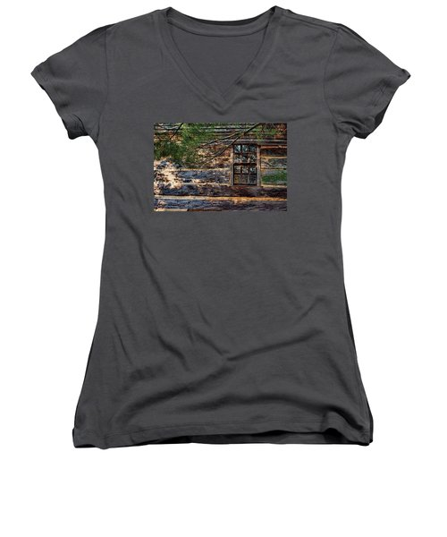 Cabin Window Women's V-Neck (Athletic Fit)
