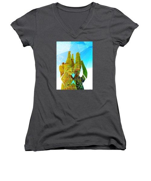 Cacti Embrace Women's V-Neck