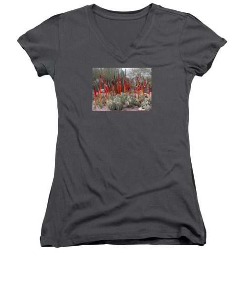 Cactus And Glass Women's V-Neck (Athletic Fit)