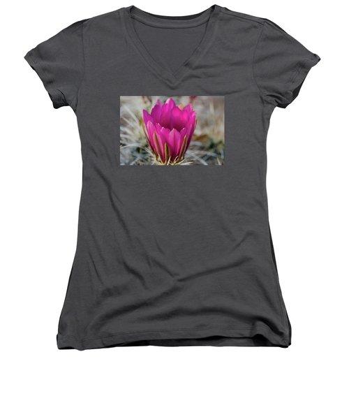 Cactus Flower Women's V-Neck (Athletic Fit)