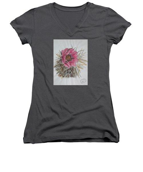 Cactus Joy Women's V-Neck T-Shirt