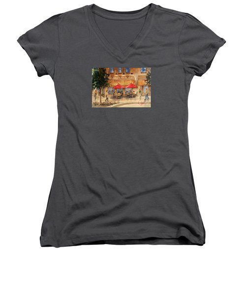 Cafe Chocolate Women's V-Neck (Athletic Fit)