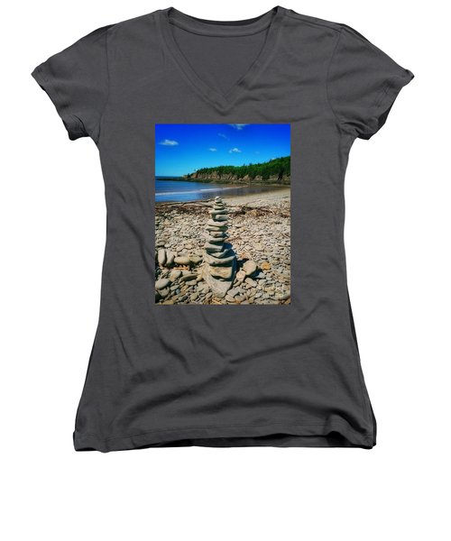 Cairn In Eastern Canada Women's V-Neck
