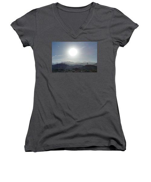 Cajon Pass Sunset Women's V-Neck