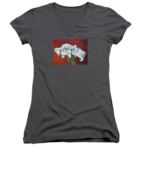 Calas Women's V-Neck T-Shirt (Junior Cut)