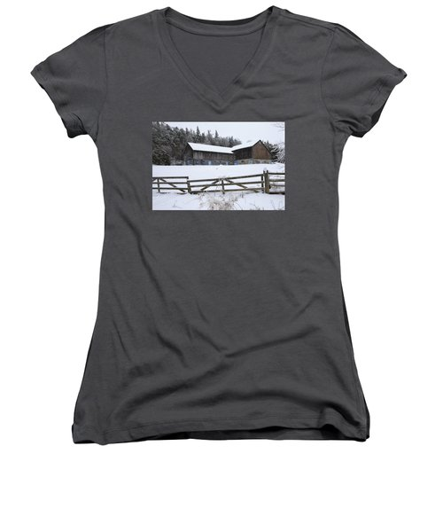 Caledon Farm Women's V-Neck T-Shirt (Junior Cut) by Gary Hall
