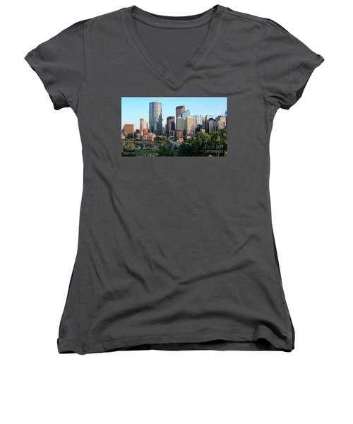 Calgary 2 Women's V-Neck T-Shirt