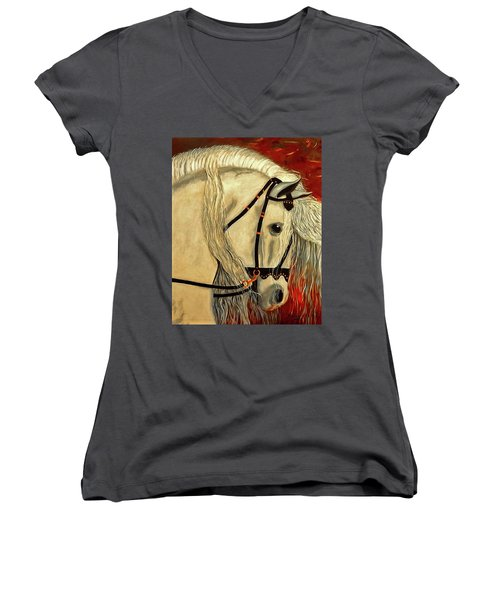 Califa Women's V-Neck T-Shirt (Junior Cut) by Manuel Sanchez