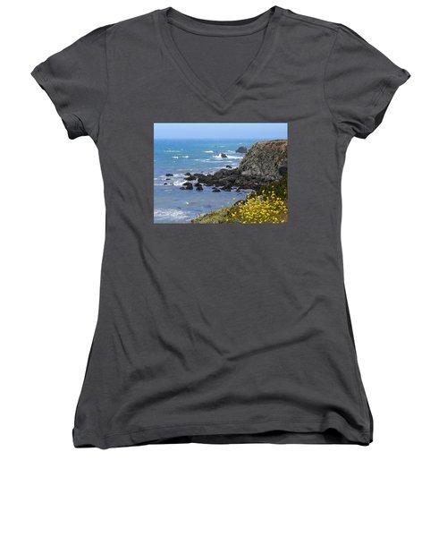 California Coast Women's V-Neck T-Shirt