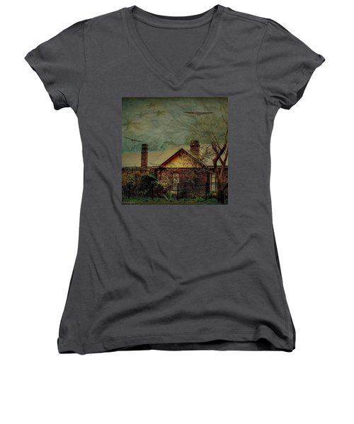 Women's V-Neck T-Shirt featuring the photograph California Dreaming by Wallaroo Images