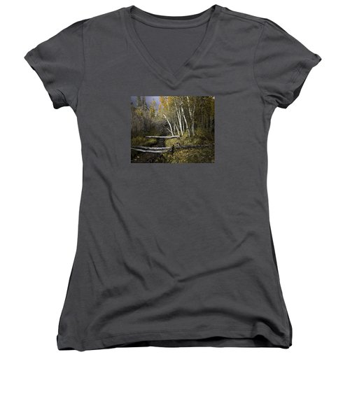 California Gold Women's V-Neck (Athletic Fit)