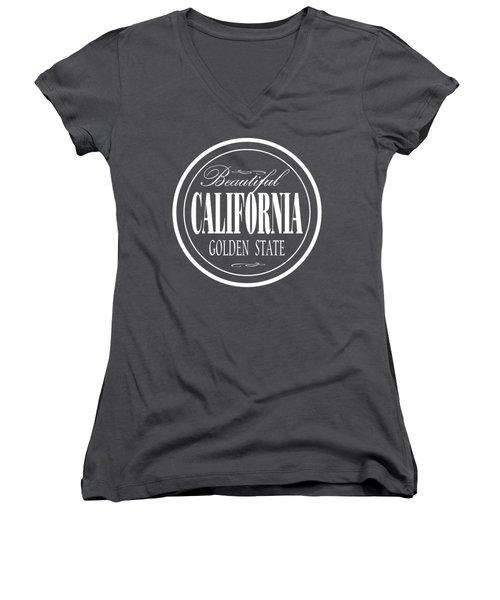 California Golden State Design Women's V-Neck