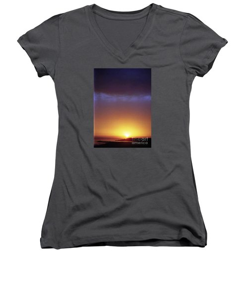 California Ocean Sunset Women's V-Neck T-Shirt