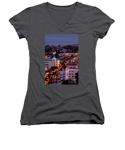 California Street At Ventura California Women's V-Neck (Athletic Fit)