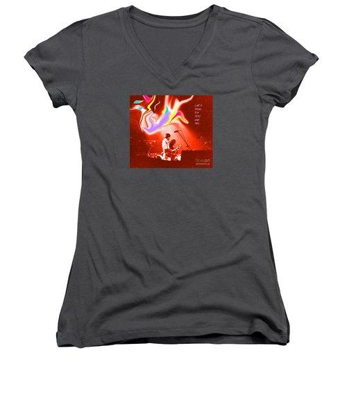 Grateful Dead - Call It Home For You And Me - Grateful Dead Women's V-Neck T-Shirt (Junior Cut) by Susan Carella