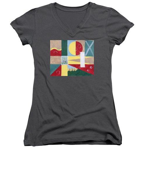 Calm And Chaos Women's V-Neck T-Shirt