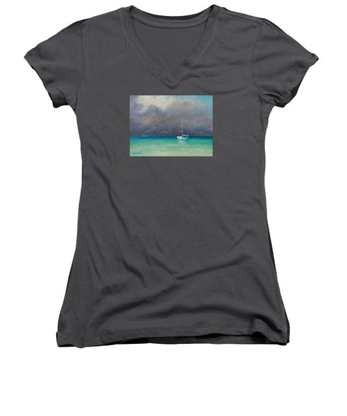 Calm Before The Storm Women's V-Neck