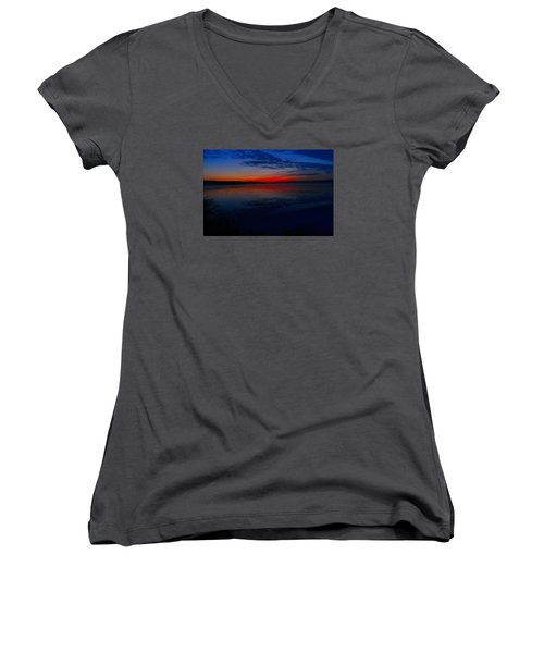 Calm Of Early Morn Women's V-Neck (Athletic Fit)