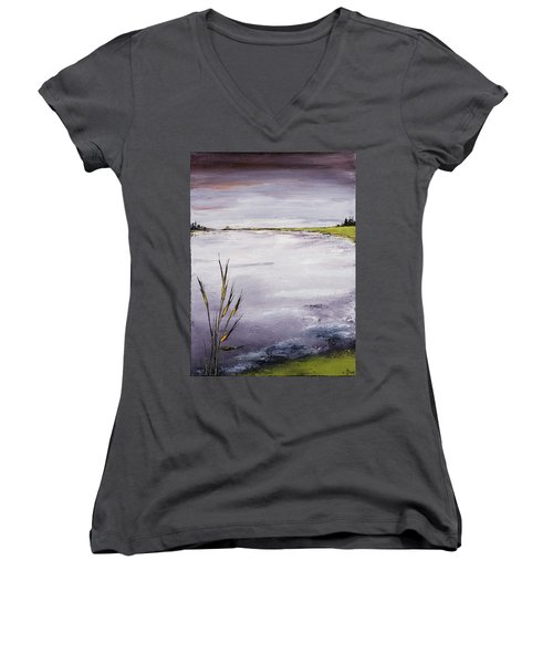 Calmer Water Women's V-Neck T-Shirt