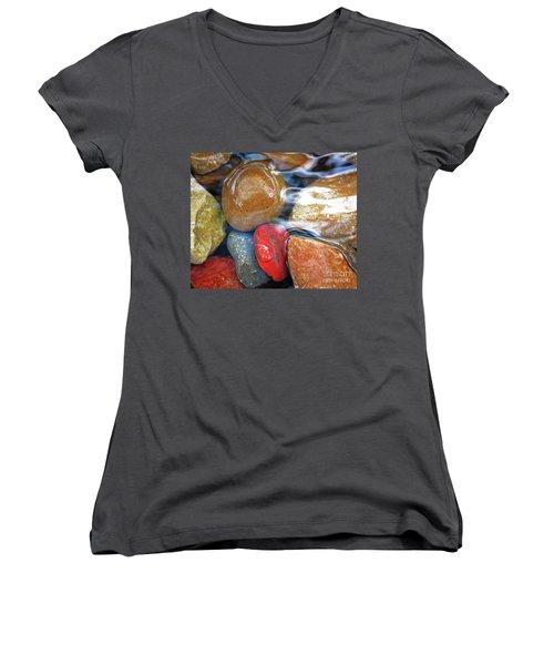 Calming Stones Women's V-Neck T-Shirt