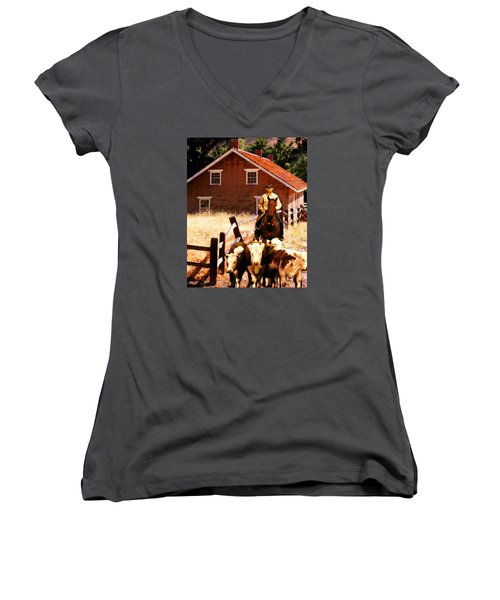 Calves Women's V-Neck