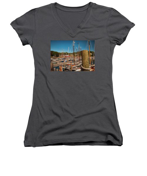Camden Harbor Women's V-Neck T-Shirt