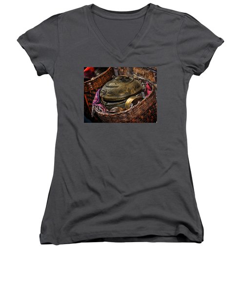 Camelback 8850 Women's V-Neck T-Shirt (Junior Cut) by Sylvia Thornton