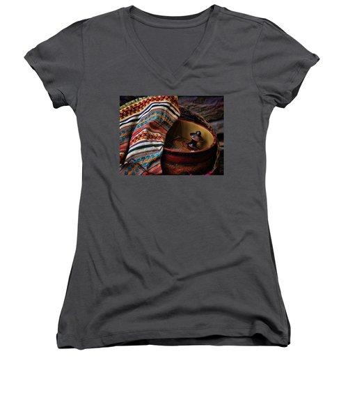 Camelback 8851 Women's V-Neck T-Shirt (Junior Cut) by Sylvia Thornton