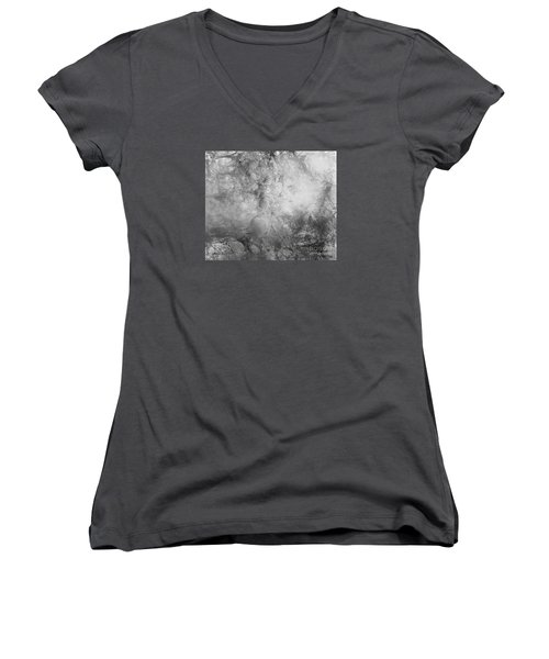 Women's V-Neck T-Shirt (Junior Cut) featuring the painting Camouflage by Trilby Cole