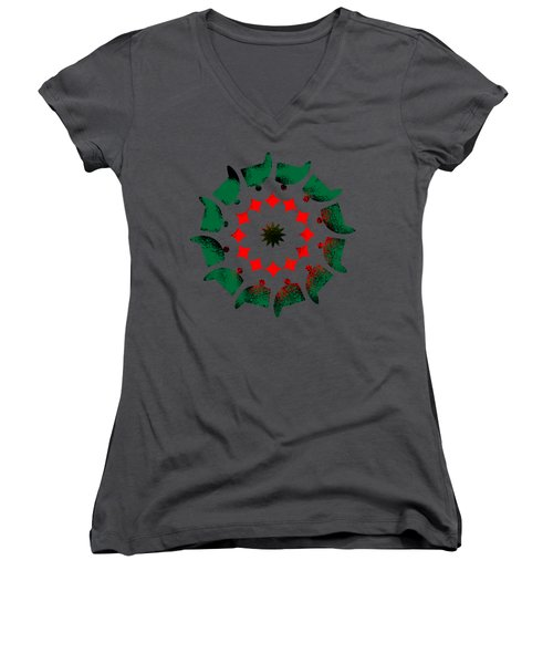 Camp Fire Women's V-Neck (Athletic Fit)