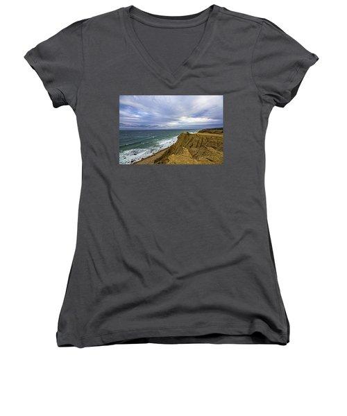Camp Hero Bluffs Women's V-Neck T-Shirt