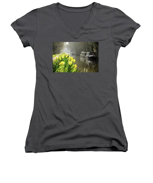 Canalside Daffodils Women's V-Neck