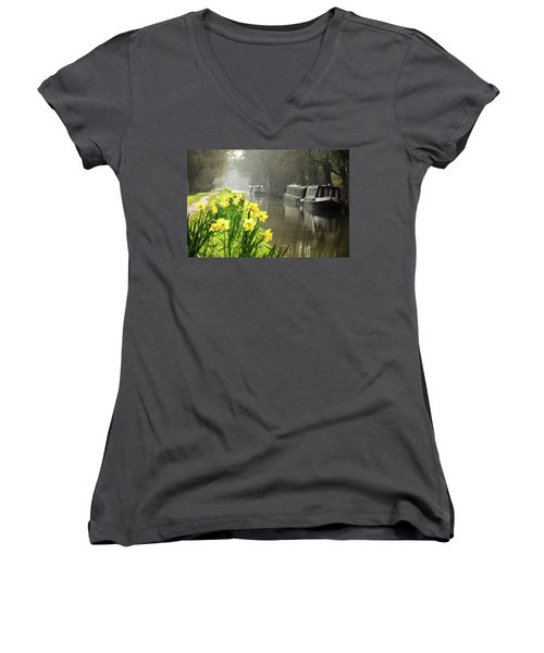 Canalside Daffodils Women's V-Neck