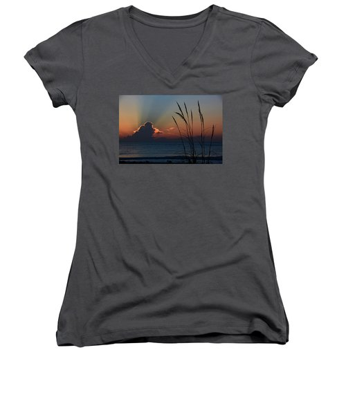 Canaveral Sunrise Women's V-Neck (Athletic Fit)