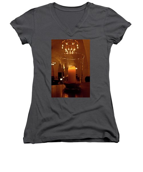 Candlelight Women's V-Neck (Athletic Fit)