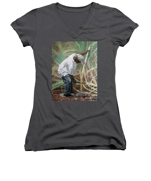 Cane Field Women's V-Neck (Athletic Fit)