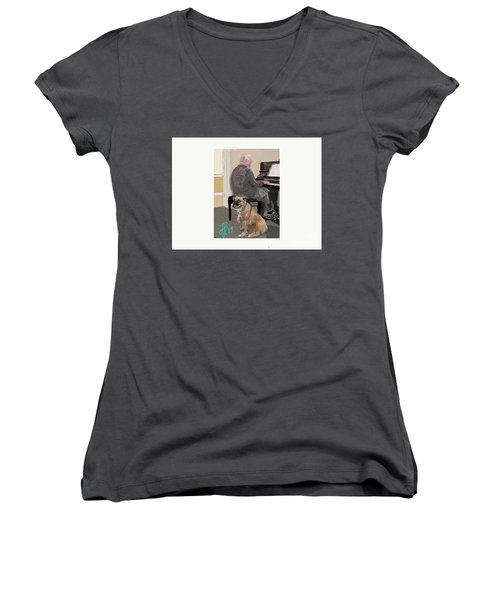 Canine Composition Women's V-Neck T-Shirt