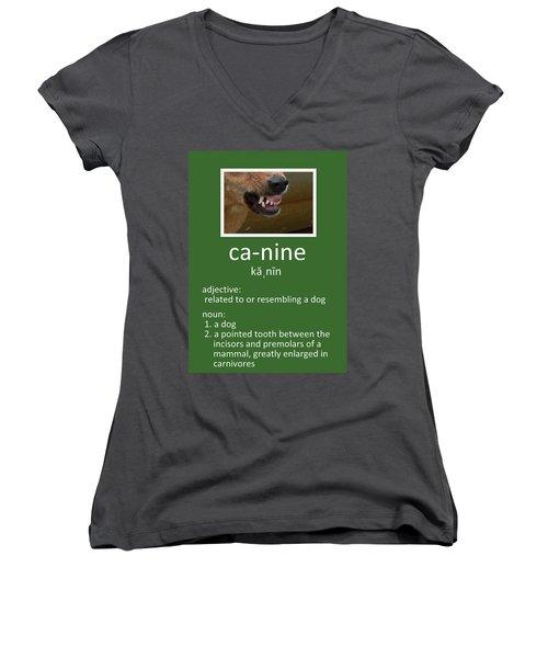 Canine Poster Women's V-Neck